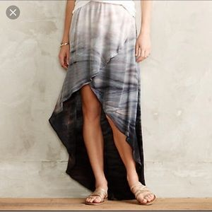 Amazing Gypsy High-Low Silk Skirt